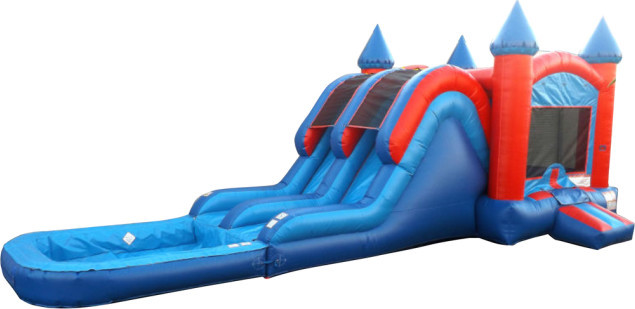 Castle Combo Dual Lane with Removable Pool