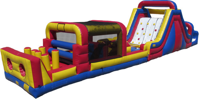Mini-Obstacle Course & Rock Climb Slide Combo