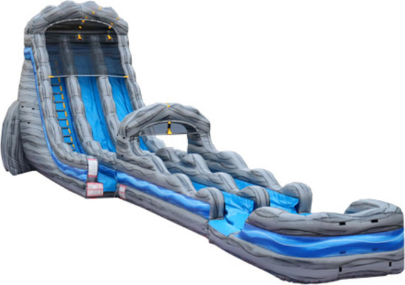 22' White Water Falls Slide with slip N Slide Attachment