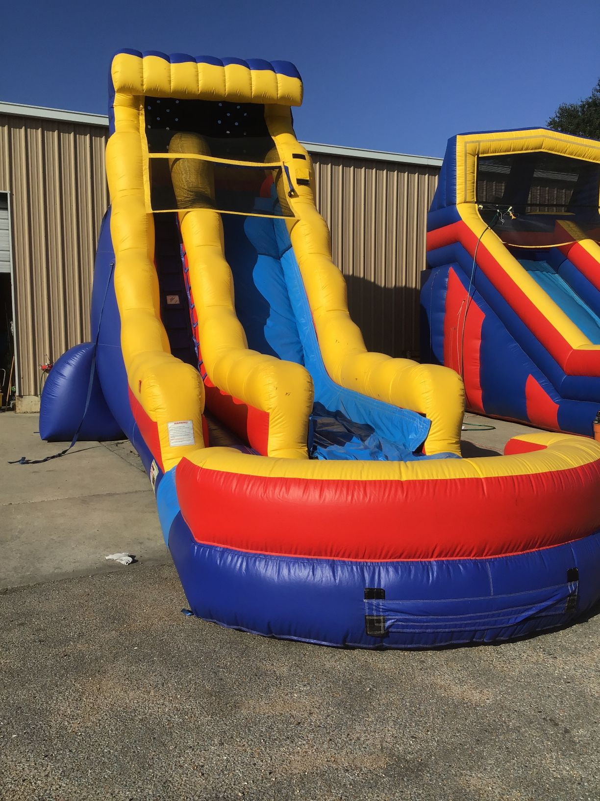 22' Primary Colors Water Slide with Landing